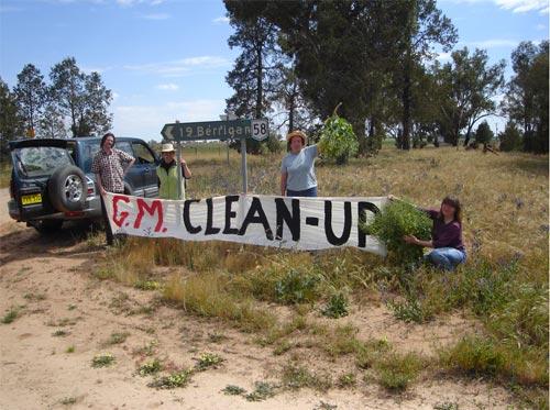 GM clean-up in Berrigan NSW, 2009